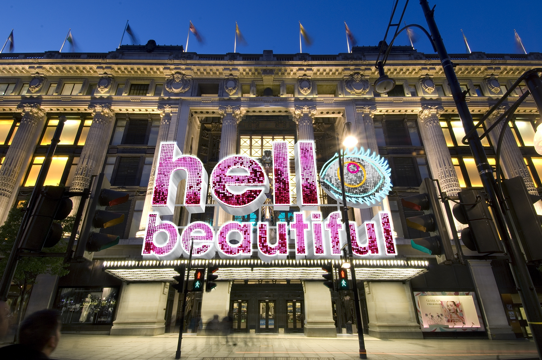 Selfridges Beauty Project_Hello Beautiful Neon Canopy