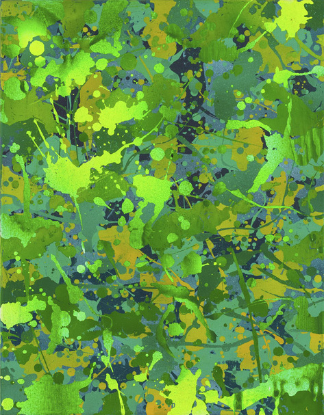 Yorgos Stamkopoulos, Green Heaven, 2014, Acrylic on Canvas, 45x35cm copy