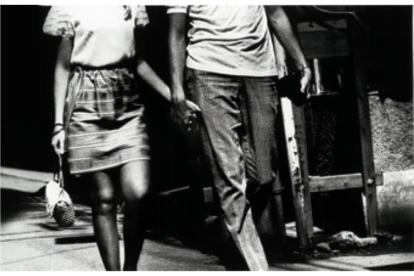 Daido Moriyama, On The Road, 1969. As a tribute to Jack Kerouac, Moriyama travelled Japan to capture a rapidly modernising country - B & W print; Courtesy of Taka Ishii Gallery