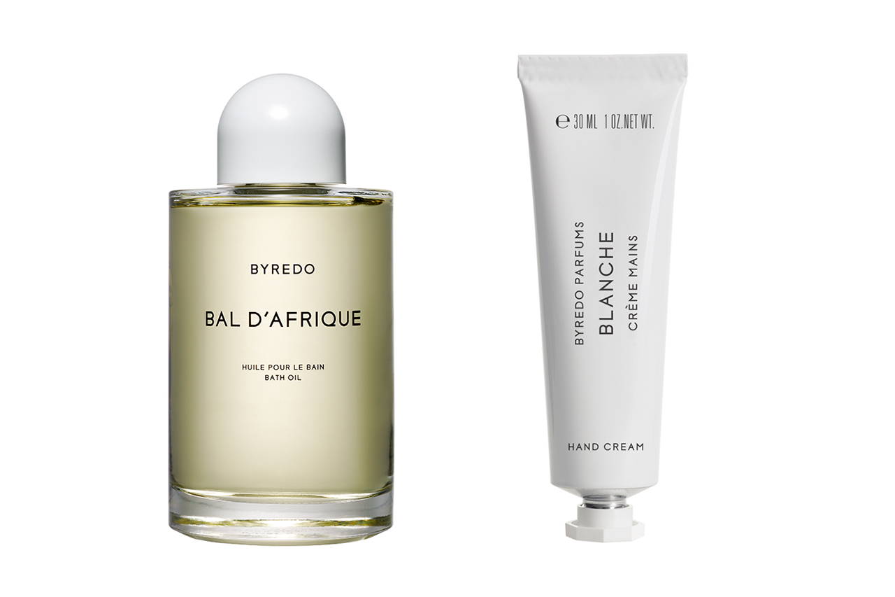 Byredo Bal D'Afrique Bath Oil and Blanche Hand Cream