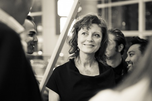 Susan Sarandon at the Swire Properties Lounge during her talk The Artistic Life presented by Liberatum - credit Inga Beckmann