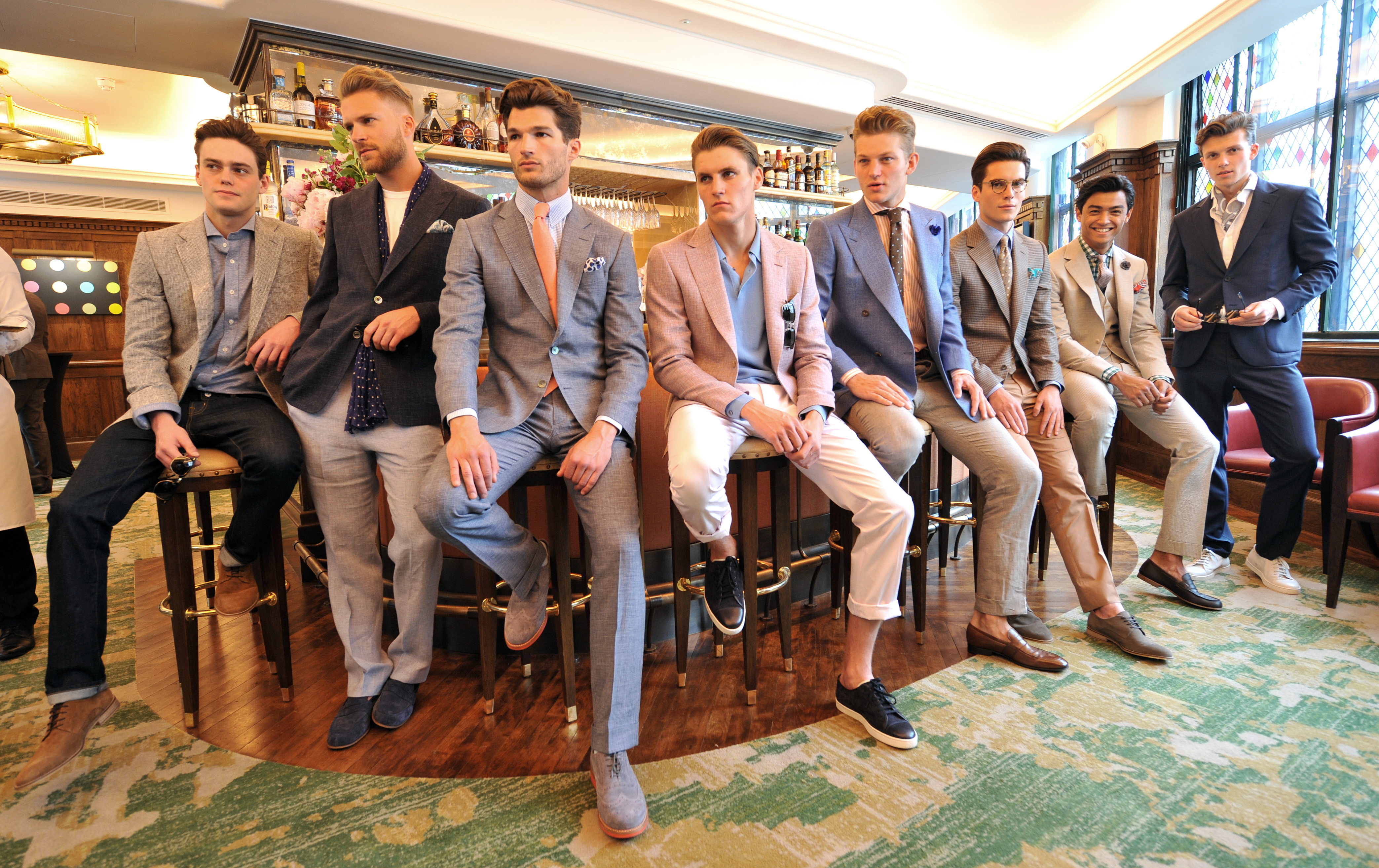 Chester Barrie - London Collections Men Spring/Summer 2016 - The Ivy Restaurant, London, United Kingdom  14/06/2015  ÃRichard Chambury/richfoto.com    Please contact:  Richard Chambury m : +44 (0)7968 894411 e : rich@richfoto.com  Richfoto Limited,  128 Queenswood Gardens, London, E11 3SG, United Kingdom  Company No: 4470144 VAT: GB799125776