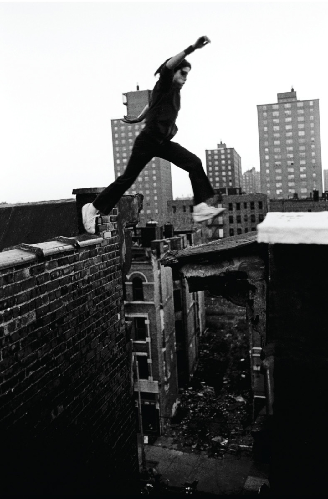 Boy jumping (Ralph Jumps), 1977 Featured in Outside the Dream, Shames' book published in 1991 copy
