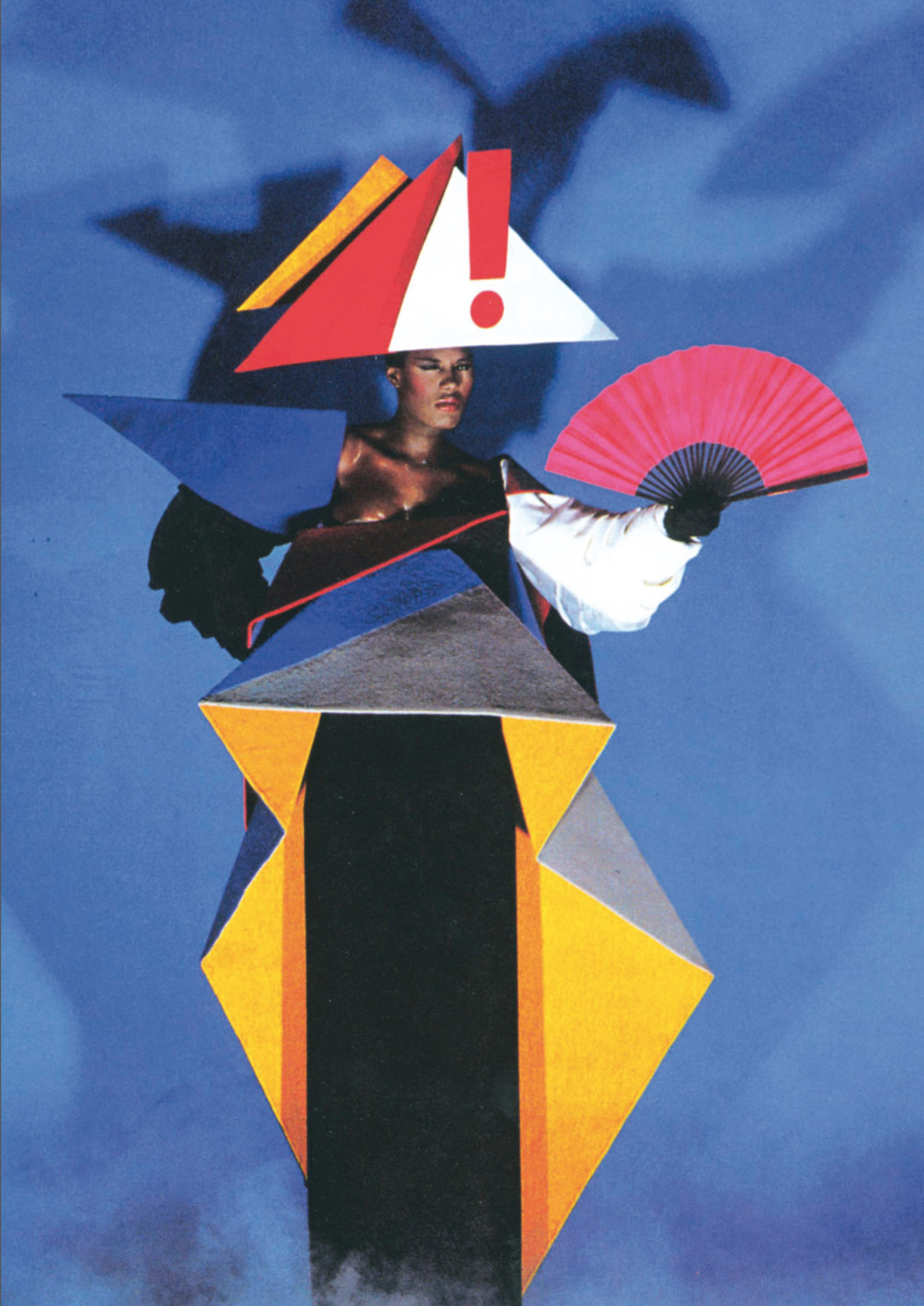 Jean-Paul Goude and Antonio Lopez, Maternity dres for Grace Jones, 1979