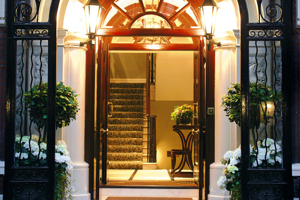 The entrance to Thirty Six restaurant in Dukes Hotel