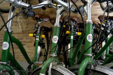 Barcelona's Green Bikes, as used by Steel Donkey alternative bike tours. Photograph by Natalie Egling