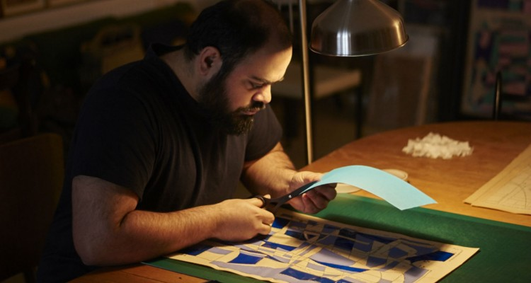 The arist Hormazd Narielwalla in his studio  Courtesy Denis Laner