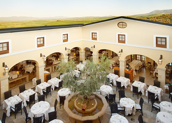 The open air restaurant at Adler Thermae