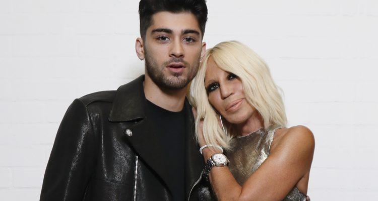 Front Cover. Donatella Versace and Zayn Malik