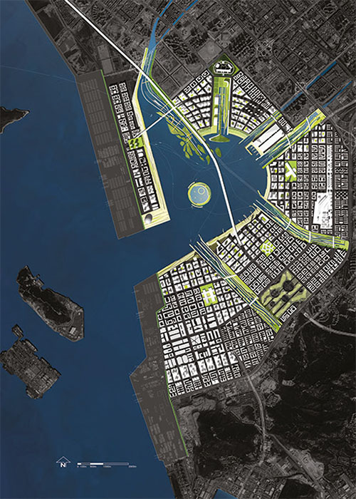The master plan for Qianhai Water City, Field Project's latest commission, a new sustainable, 'hyper-dense' city on reclaimed land in China
