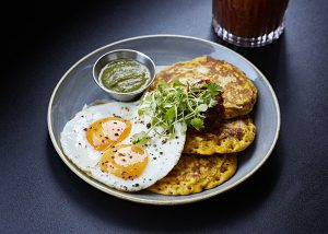 Coconut and chickpea pancakes