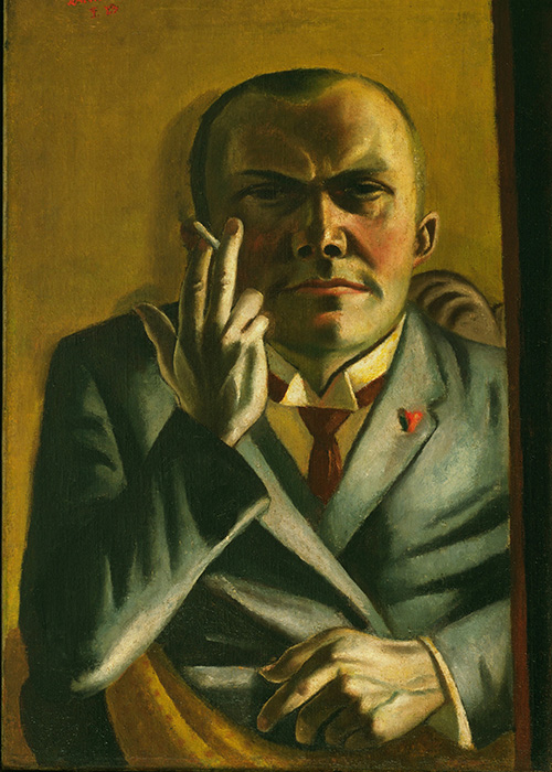 Max Beckmann in New York Beckman Self portrait with a Cigarette Museum of Modern Art New York