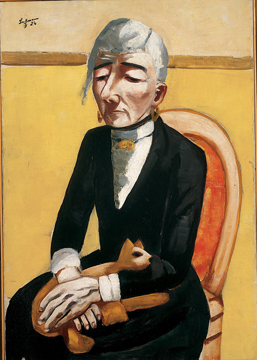 Max Beckmann in New York Beckmann The Old Actress Private Collection New York