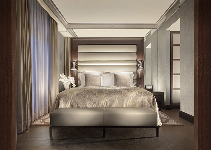 Bedroom at the Royal Savoy