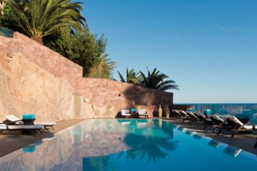 Miramar Beach Hotel and SPA, Théoule-sur-Mer, Cote d'Azur, France, swimming pool and view