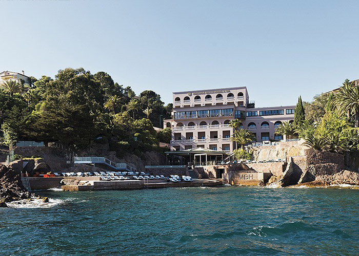 Miramar Beach Hotel and SPA, Théoule-sur-Mer, Cote d'Azur, France, external view of the hotel