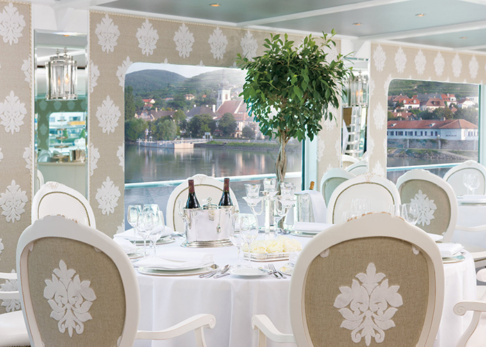 Restaurant on board River Beatrice