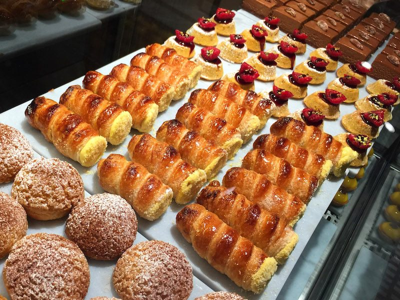 Cakes and pastries on offer at Panetteria