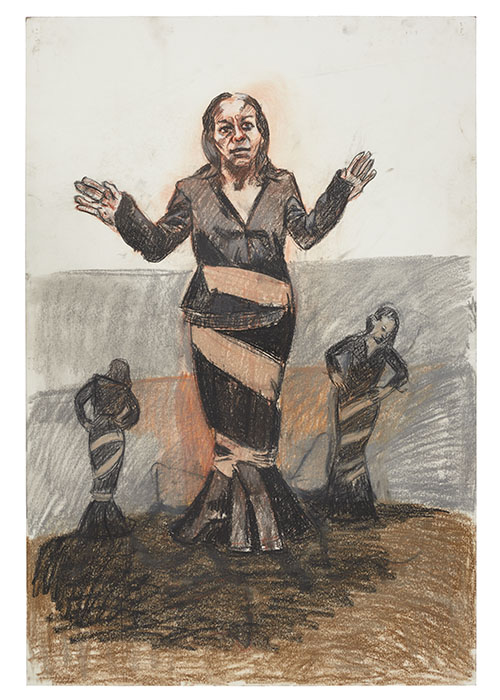 Story pic Paula Rego, Depression Series, Four, 2007. pastel on paper. 101.5 x 68.5 cm,