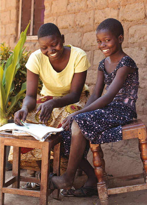 Story picture Making good two sisters in Northern Tanzania