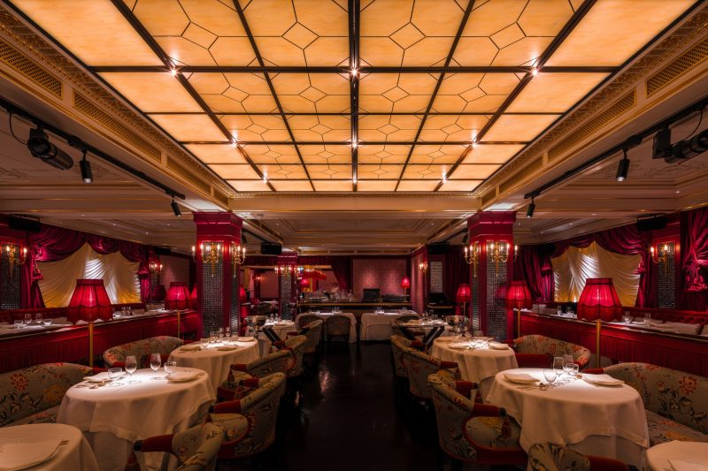 Glass lunches during Park Chinois in London's Mayfair