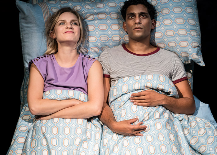 Faye Marsay (Louise,Clare) and Shane Zaza (Joey) 'Road' at the Royal Court - Photography credit - Johan Persson.