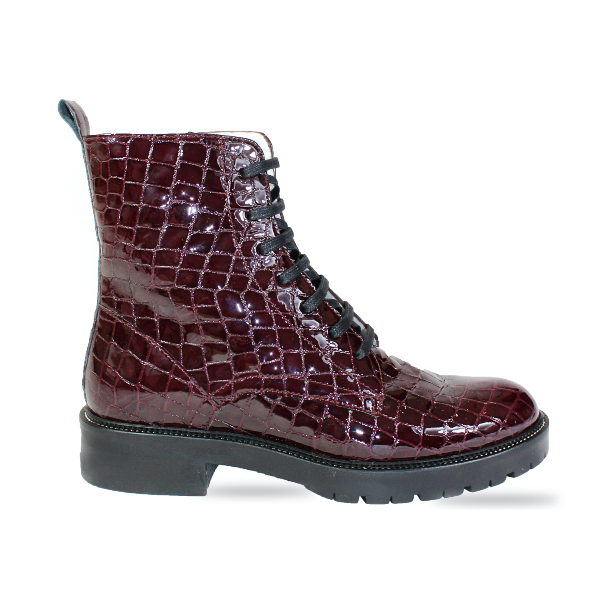 The Festival Boot in Wine-red
