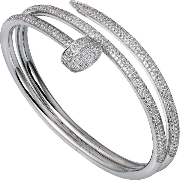 Juste Un Clou white gold with diamonds bracelet