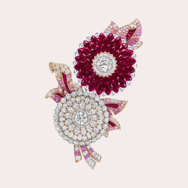 Van Cleef & Arpels Italian Rose Transformable Clip