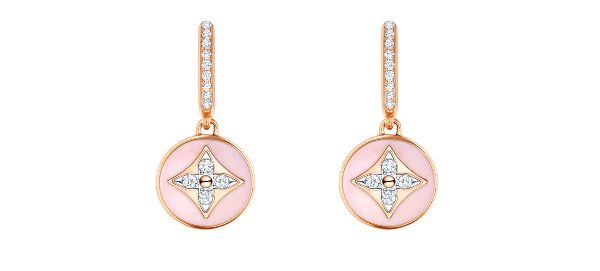 Louis Vuitton B Blossom in 18carat pink and white gold diamonds and opal