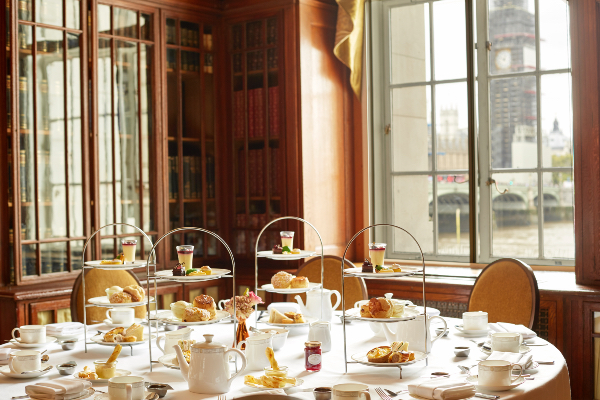 The Library's Afternoon Tea at London Marriott Hotel County Hall